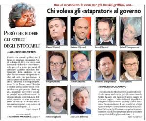 """Ezio Mauro, Maltese, Fabio Fazio. Libero: """"Ecco chi voleva gli stupratori al governo"""""""