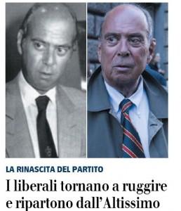 """""""I liberali tornano a ruggire e ripartono dall'Altissimo"""", il Giornale"""
