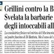 """Di Battista-Bignardi, Giornale: """"Svelata la barbarie degli intoccabili alla Sofri"""""""