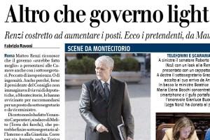 Altro che governo light: 50 sottosegretari, Fabrizio Ravoni sul Giornale