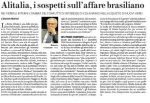 Alitalia, i sospetti sull'affare brasiliano