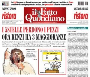 """Marco Travaglio sul Fatto Quotidiano: """"Peccatori e verginelle"""""""
