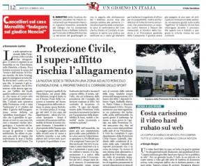 """Protezione Civile, Fatto Quotidiano: """"La sede di Roma a rischio idrogeologico"""""""