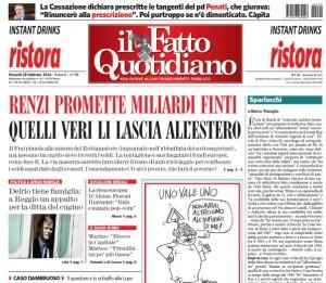 """Marco Travaglio sul Fatto Quotidiano: """"Sparlacchi"""""""