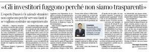 """Alessandro Danovi: """"Gli investitori fuggono perché non siamo trasparenti"""""""