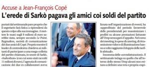 L'erede di Sarkò pagava gli amici coi soldi del partito, Alessandro Carlini su Libero