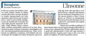"""Massimo Gramellini, Buongiorno sulla Stampa: """"L'insonne"""""""