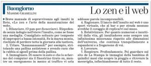 """Massimo Gramellini, Buongiorno sulla Stampa: """"Lo zen e il web"""""""