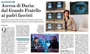 """Daria Bignardi, il Fatto Quotidiano: """"L'ascesa, dal Grande Fratello al padre fascista"""""""