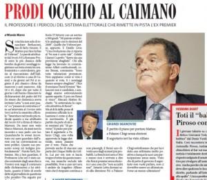 Romano Prodi e la legge elettorale che rischia di far vincere Berlusconi