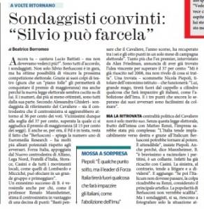 """Sondaggisti sicuri: """"Con l'Italicum Berlusconi può vincere ancora"""""""
