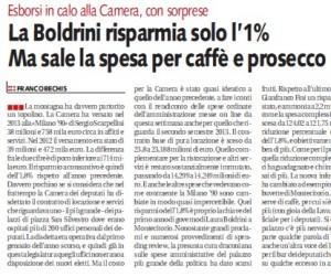 """Laura Boldrini, Bechis su Libero: """"Alla Camera sale spesa per caffè e prosecco"""""""