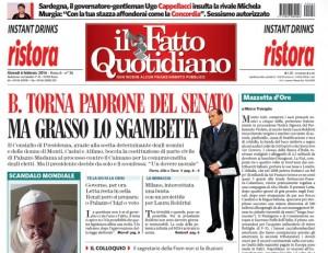 """Marco Travaglio sul Fatto Quotidiano: """"Mazzetta d'oro"""""""