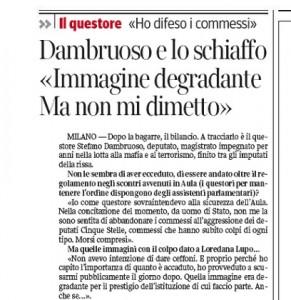 """Stefano Dambruoso: """"Immagine degradante. Ma non mi dimetto"""""""