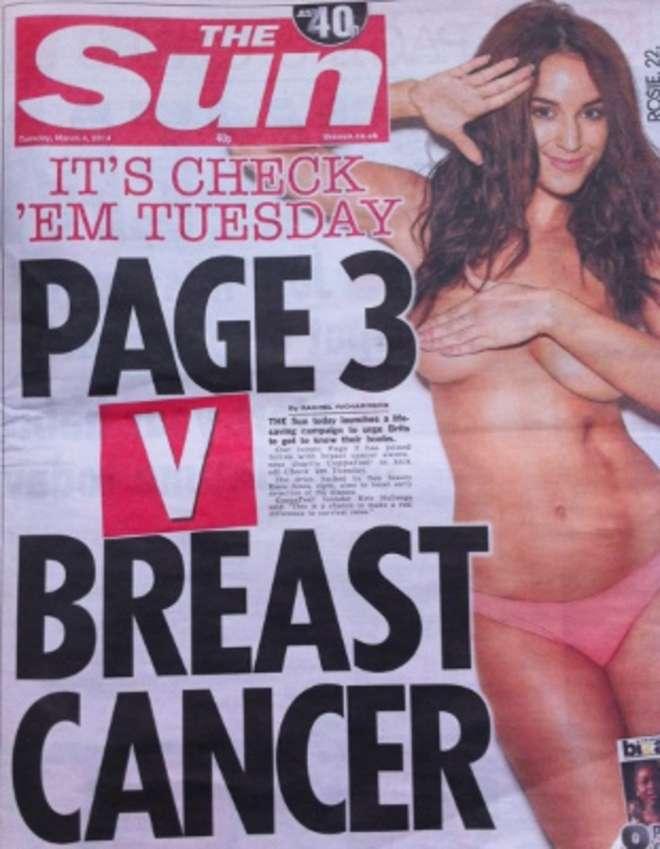 La campagna del Sun per la lotta contro il cancro al seno