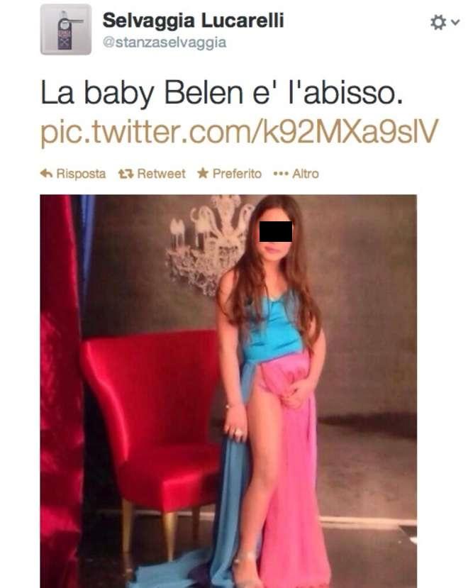 Baby Belen, il post di Selvaggia Lucarelli