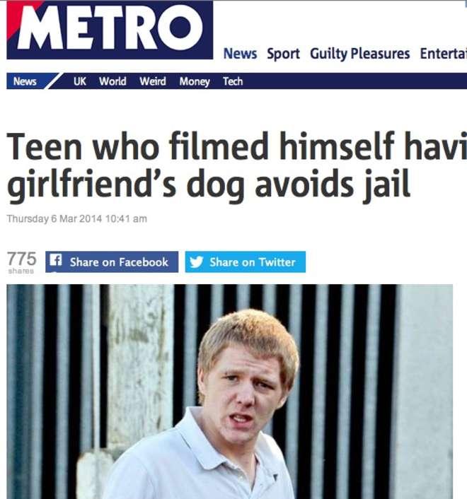 """Si filma mentre fa sesso col cane della sua ragazza: """"30 secondi di follia"""""""