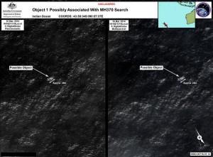 Alcuni presunti relitti del volo Malaysia avvistati giorni fa