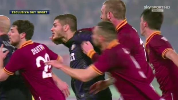 Daniele De Rossi squalificato 3 giornate per pugno a Icardi