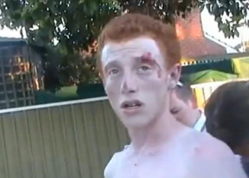 Il video pulp dell'arresto dell'assassino 17enne