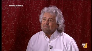 Beppe Grillo da Mentana, le frasi choc