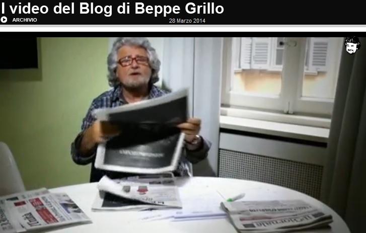 """Beppe Grillo: """"Giornali spazzatura!"""", sostituirli con """"un amplificatore della Madonna"""""""