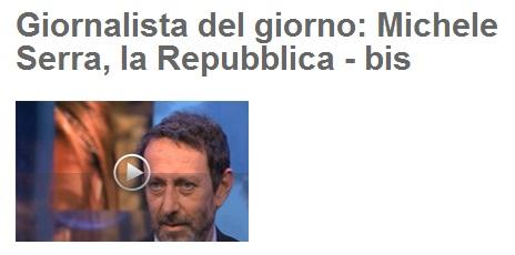 Michele Serra giornalista del giorno sul blog di Beppe Grillo