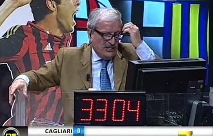 Tiziano Crudeli disperato in Milan-Parma 2-4 (video)