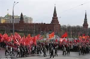Dimostranti pro-Putin a Mosca