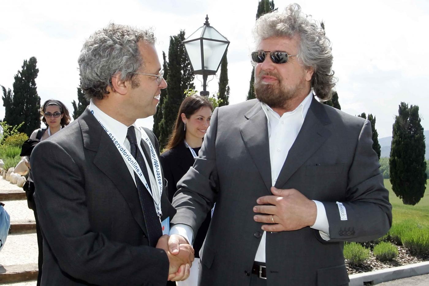 Beppe Grillo sbarca in tv da Mentana. Obiettivo europee, superare il Pd