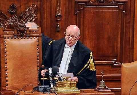 Il giudice Antonio Esposito, pare del pm Ferdinando