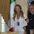 Federica Gagliardi durante la visita ufficiale di Berlusconi a Panama