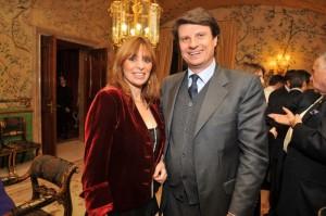 Mauro Floriani con la moglie Alessandra Mussolini (Foto Lapresse)