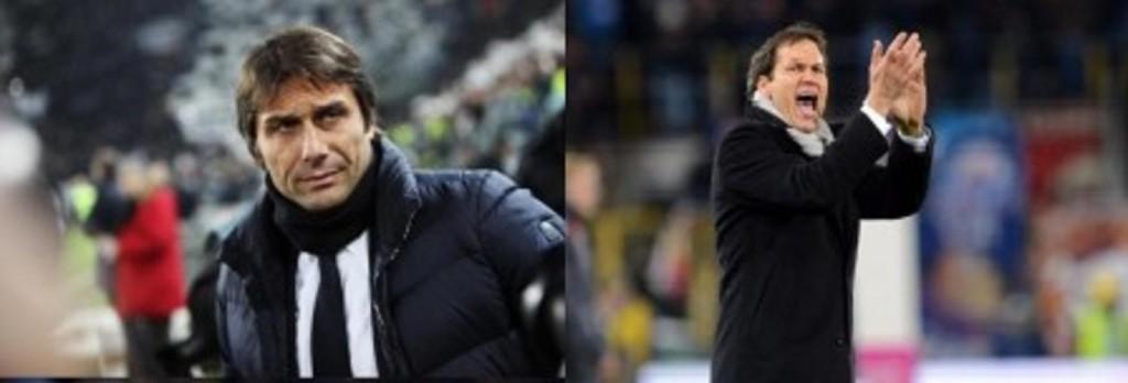 Antonio Conte e Rudi Garcia (LaPresse)