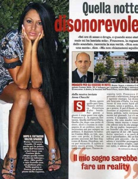 "Cosimo Mele, Francesca Zenobi ""tentò estorsione"": condannata a 20 mesi"