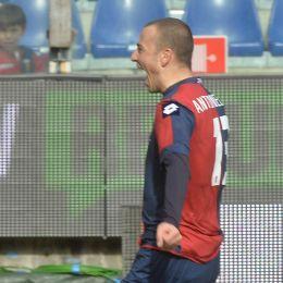 Genoa, Antonelli esulta dopo il gol (foto Ansa)