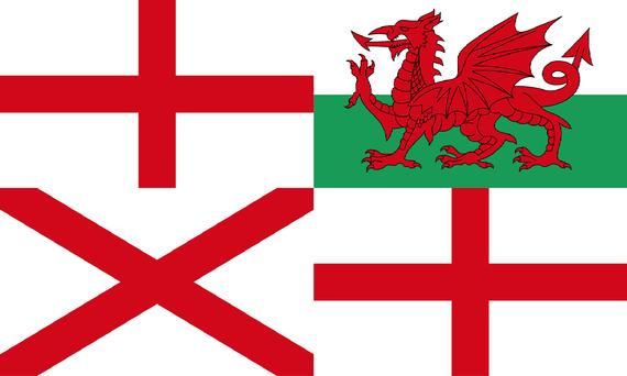 Regno Unito Senza Scozia Union Jack Con Il Galles Ipotesi Di Una