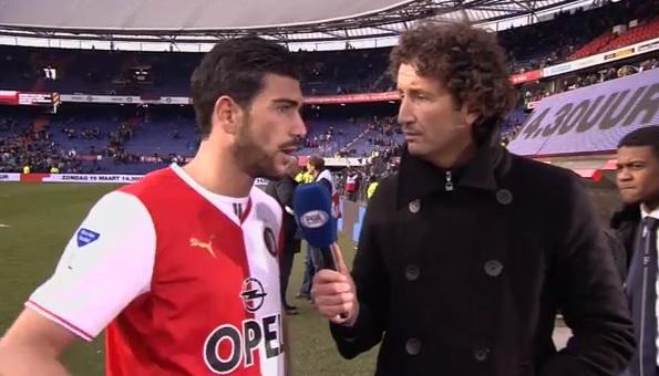 """Pellè all'inviato: """"Hai la faccia da tifoso dell'Ajax"""" (video)"""