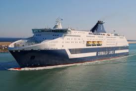 Un'imbarcazione della Grimaldi Lines