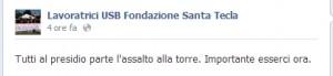 """Este (Padova). Licenziate da casa riposo """"Santa Tecla"""" salgono su torre di 15 m"""