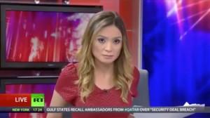 Liz Wahl, reporter di Russia Today si dimette in diretta: il video