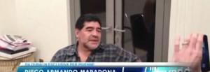 """Maradona: """"Napoli-Roma? Un altro 3-0"""""""