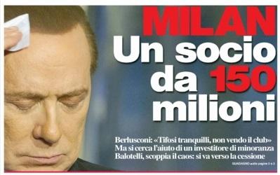 Milan, si cerca un socio: servono 150 milioni