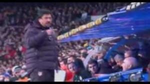 Atletico Madrid, El Mono Burgos voleva staccare la testa a Mourinho (video)