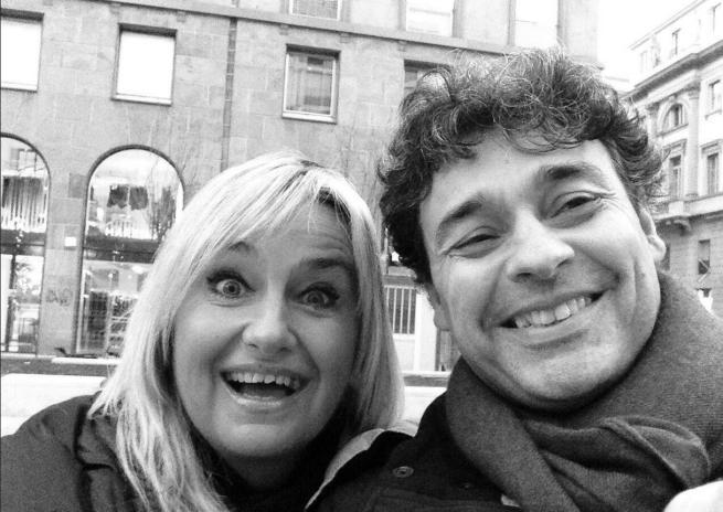 Morena con Antonio (foto Facebook)