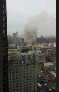 Le foto del palazzo crollato postate su Twitter