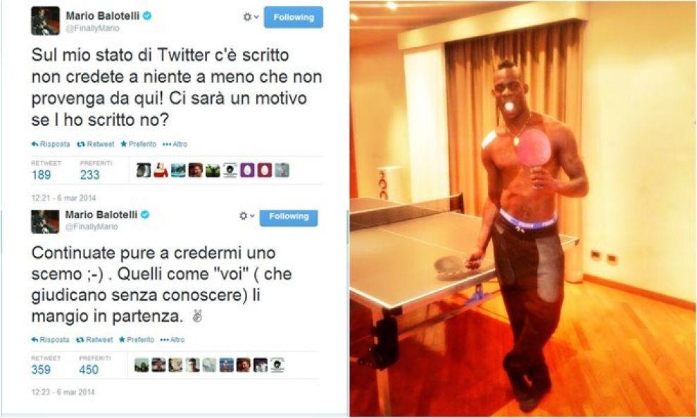 Ping pong, rabbia Balotelli «Mi credete uno scemo»