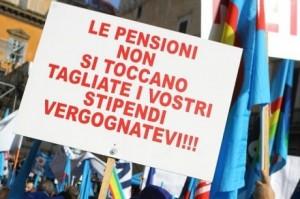"""I pensionati: """"Vogliamo sgravi, altro che tagli"""""""
