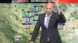 Usa, presentatore meteo nel panico: un ragno gli è caduto in testa
