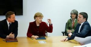 "Angela Merkel: ""Riforme di Matteo Renzi progetto ambizioso"""
